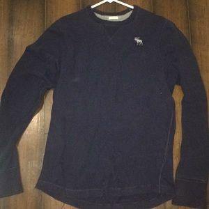 Abercrombie crew sweater XXL Navy blue